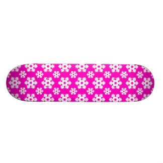 Snowflake 7 Pink Skate Board Deck