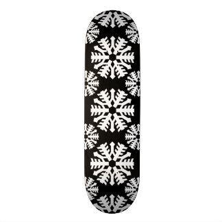 Snowflake 9 Black and White Skate Board Decks