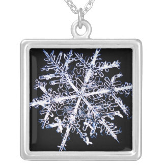 Snowflake 9 silver plated necklace