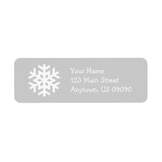 Snowflake Address Label B (Silver)
