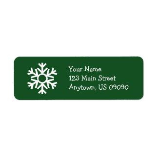 Snowflake Address Label C (Evergreen)