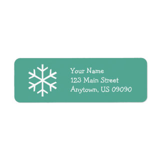 Snowflake Address Label D (Teal)