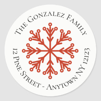 Snowflake Address Sticker