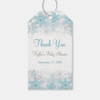 Snowflake Baby It's Cold Outside Shower Gift Tags