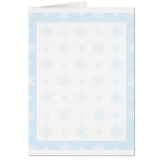 Snowflake Background Card