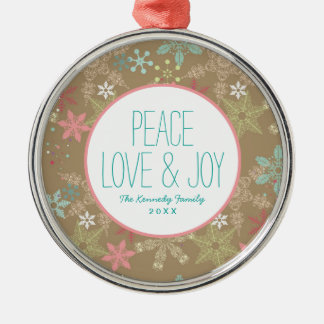 Snowflake Background Christmas Ornament