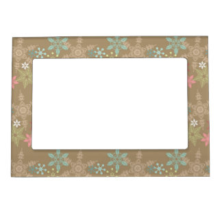 Snowflake Background Magnetic Frame