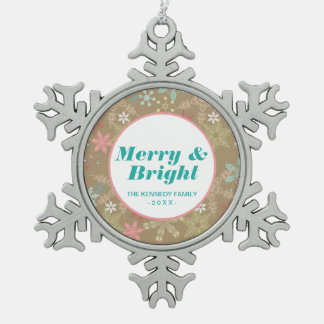 Snowflake Background Snowflake Pewter Christmas Ornament