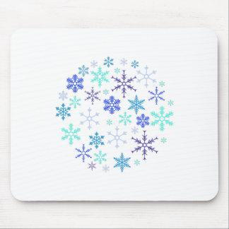 Snowflake Ball Mouse Pad