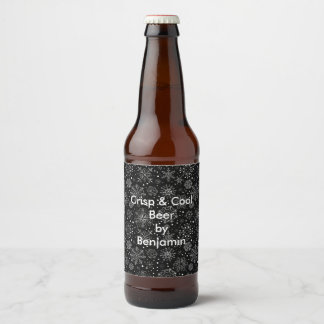 Snowflake Beer Lable Beer Bottle Label