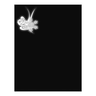 Snowflake & Birdie Christmas Design - B&W Infrared 21.5 Cm X 28 Cm Flyer