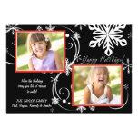 Snowflake Blackout - Photo Holiday Card Personalised Invitations