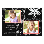 Snowflake Blackout - Photo Holiday Card Personalised Invitations