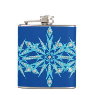 snowflake bling hip flask