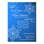 Snowflake Blue Bridal Shower 13 Cm X 18 Cm Invitation Card