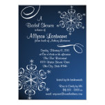 Snowflake Blue Bridal Shower Personalized Announcements