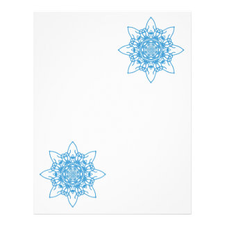 Snowflake Blue Flyer Design
