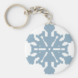 Snowflake - blue key ring