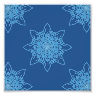 Snowflake Blue Photo Print