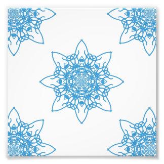Snowflake Blue Photographic Print