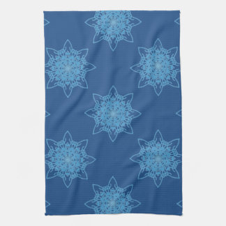 Snowflake Blue Tea Towel