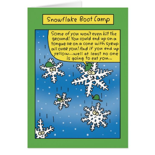 Snowflake Boot Camp Funny Card