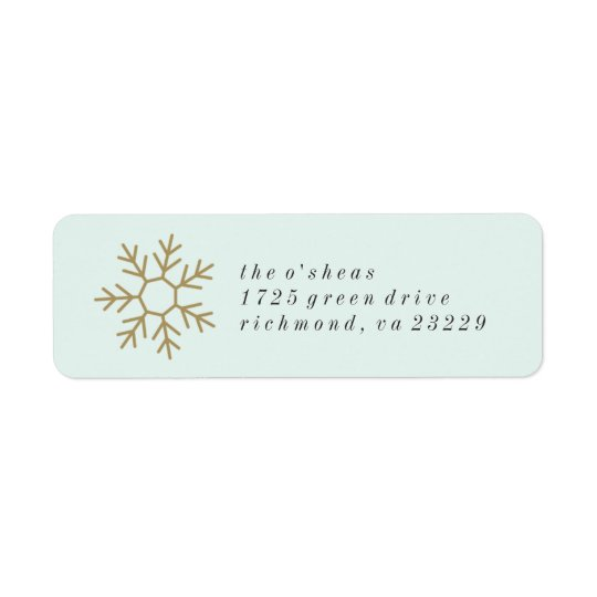 Snowflake Border Address Label