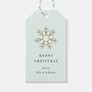 Snowflake Border Gift Tag