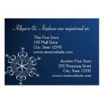 Snowflake Bridal Registry Card Dark Blue Business Card