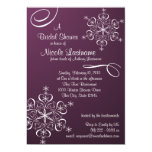 Snowflake Bridal Shower Custom Invitation