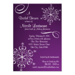 Snowflake Bridal Shower Personalised Announcements