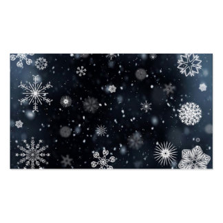 Snowflake Business Card Template