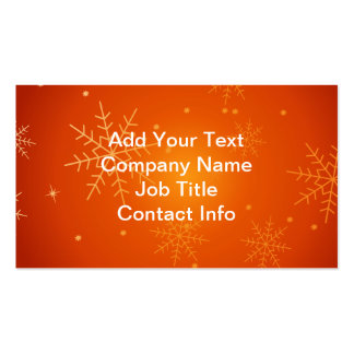 Snowflake Business Card Templates