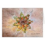 Snowflake cactus holiday greeting card