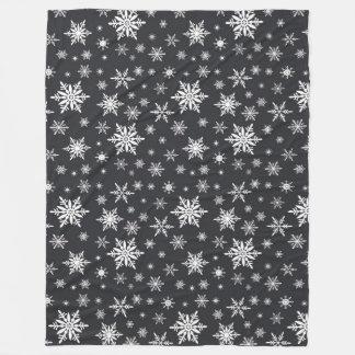 snowflake chalkboard art fleece blanket