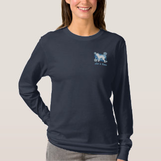 Snowflake Chinese Crested Embroidered Shirt