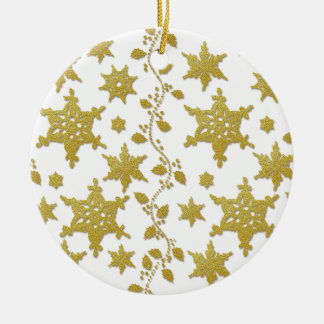 Snowflake Christmas elegant holly Christmas Ornament