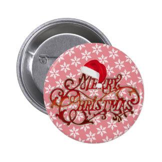 Snowflake Christmas Hat Button