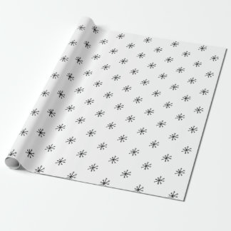 Snowflake Christmas Holiday Modern Wrapping Paper