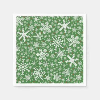 Snowflake Christmas | Holiday Napkins Disposable Napkin