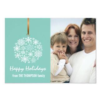 Snowflake Christmas Holiday Photo Card -ice water 13 Cm X 18 Cm Invitation Card