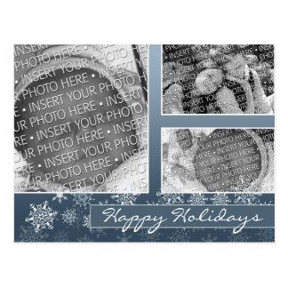 Snowflake Christmas Holiday Photo Post Cards