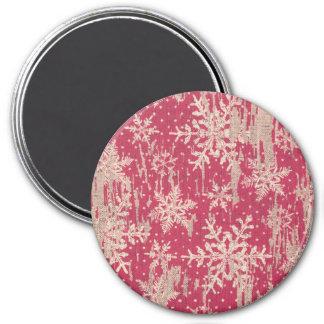 snowflake Christmas Holiday Rustic Magnet