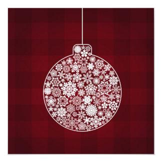 Snowflake Christmas Ornament 13 Cm X 13 Cm Square Invitation Card