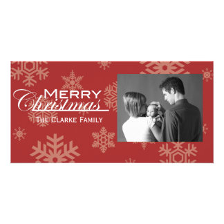 Snowflake Christmas Photo Card