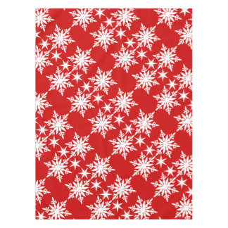 Snowflake christmas red white pattern tablecloth