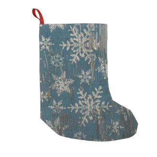 snowflake Christmas Rustic christmas stocking