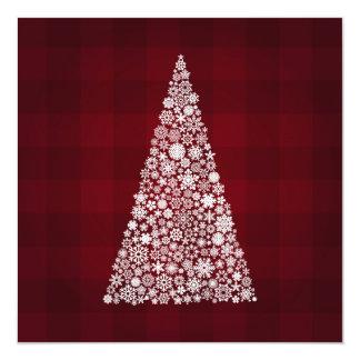 Snowflake Christmas Tree 13 Cm X 13 Cm Square Invitation Card