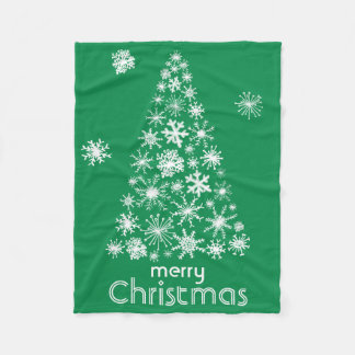 Snowflake Christmas Tree Merry Christmas blanket