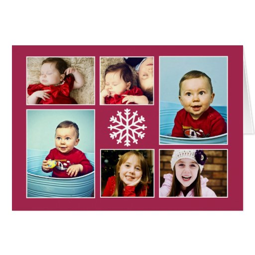 SNOWFLAKE COLLAGE | HOLIDAY GREETING CARD
